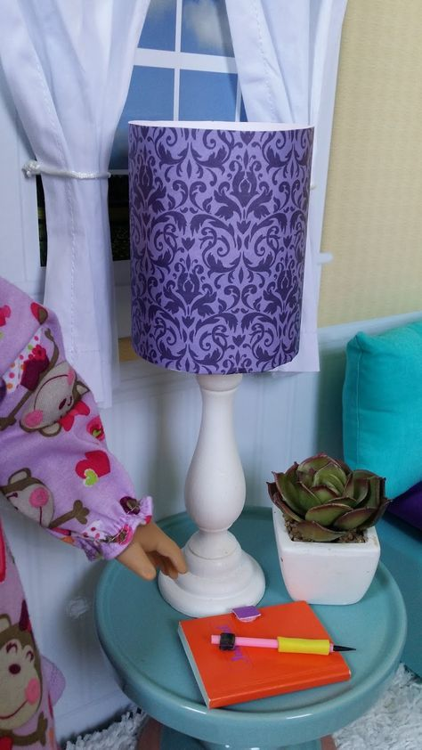 American Girl Doll Crafts And Fun Craft Make A Sized Lamp
