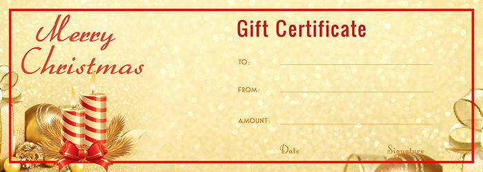 Get the download of this Golden Gift Certificate Template PDF file – Christmas Gift Certificate Template Word