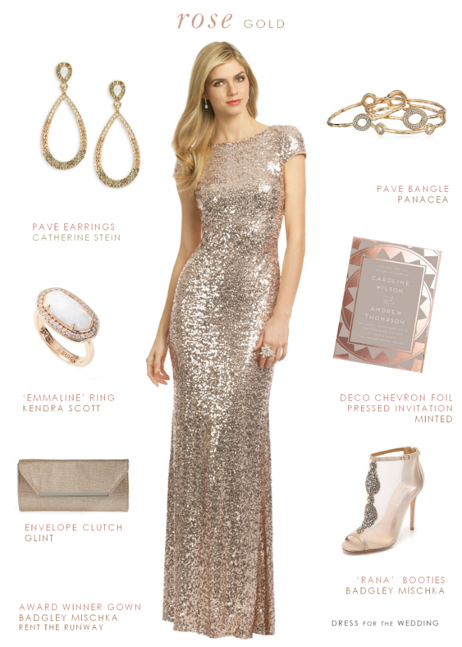 7be603bfa6 A blush sequin rose gold bridesmaid dress for weddings or black tie events.  Wear it as a special gown to galas and holiday events.