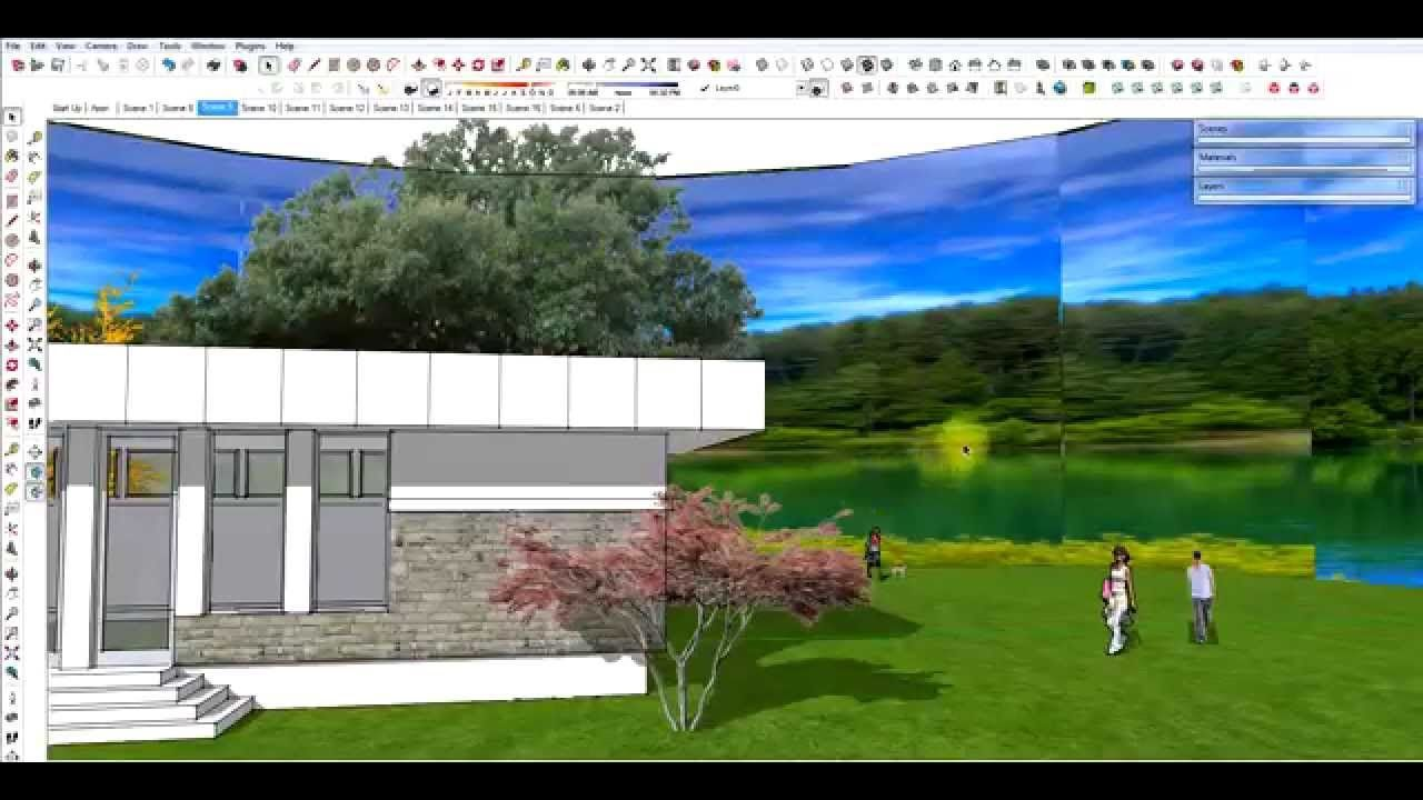 Create A Panoramic Background For A Sketchup Model Panoramic