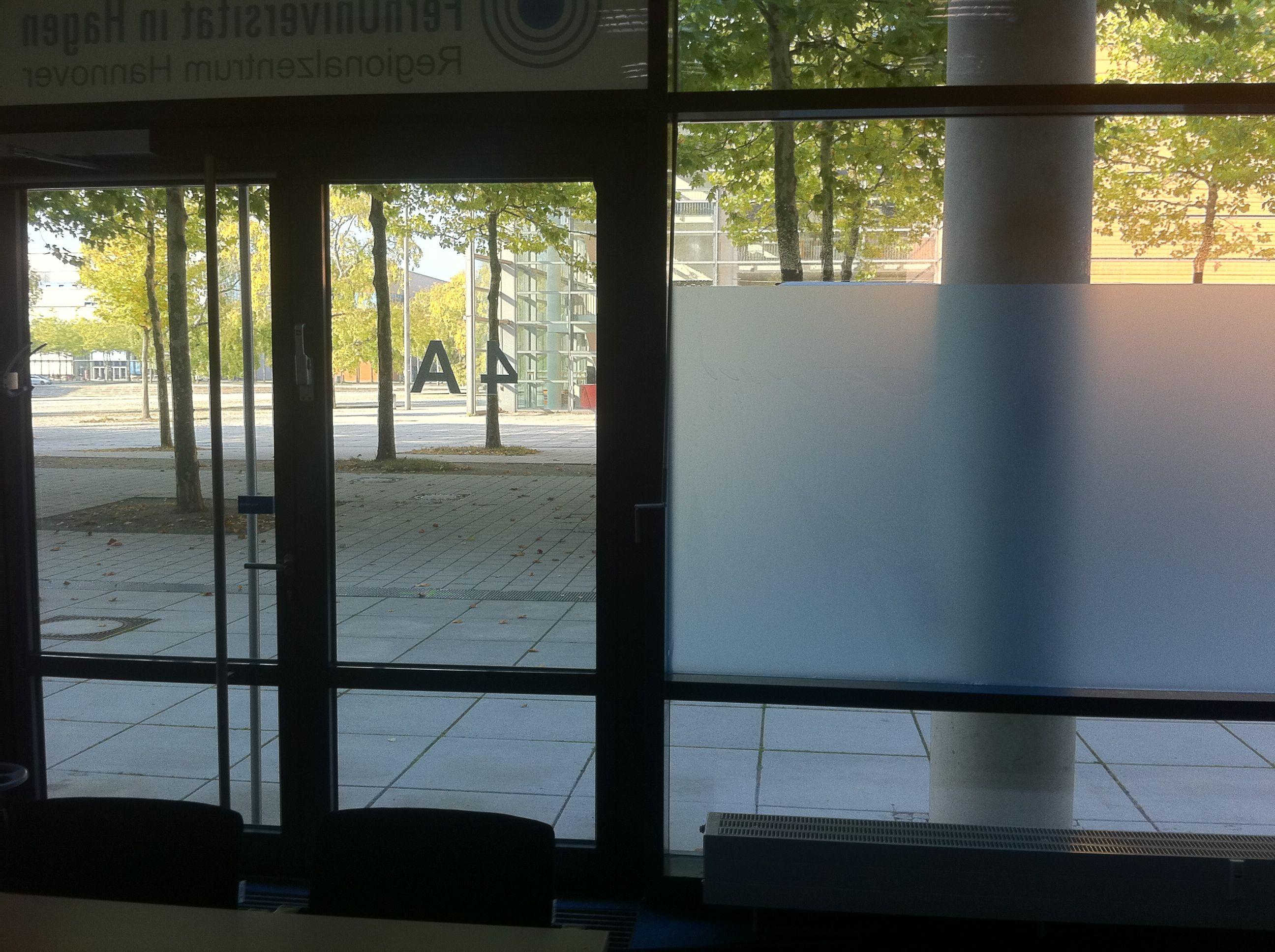 Sichtschutz aus Folie auf Glas Sonstige Folienarbeiten