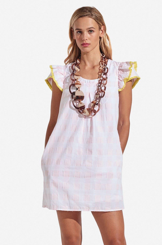 Clare Flutter Dress Gingham Plaid Flutter dress