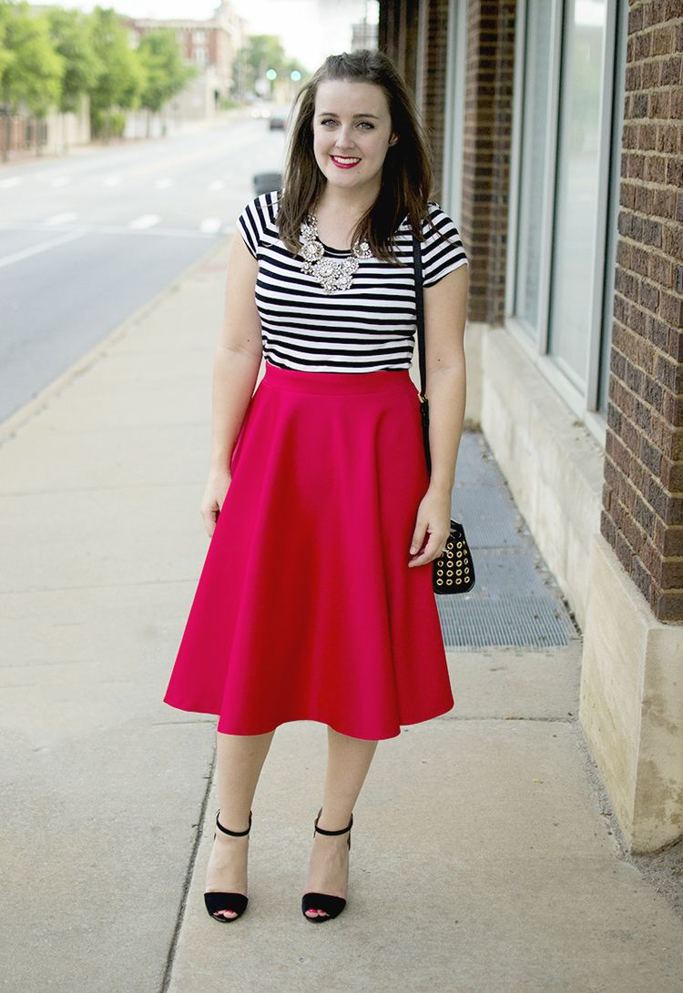 17 Best images about Red Midi Skirts on Pinterest | Full midi ...