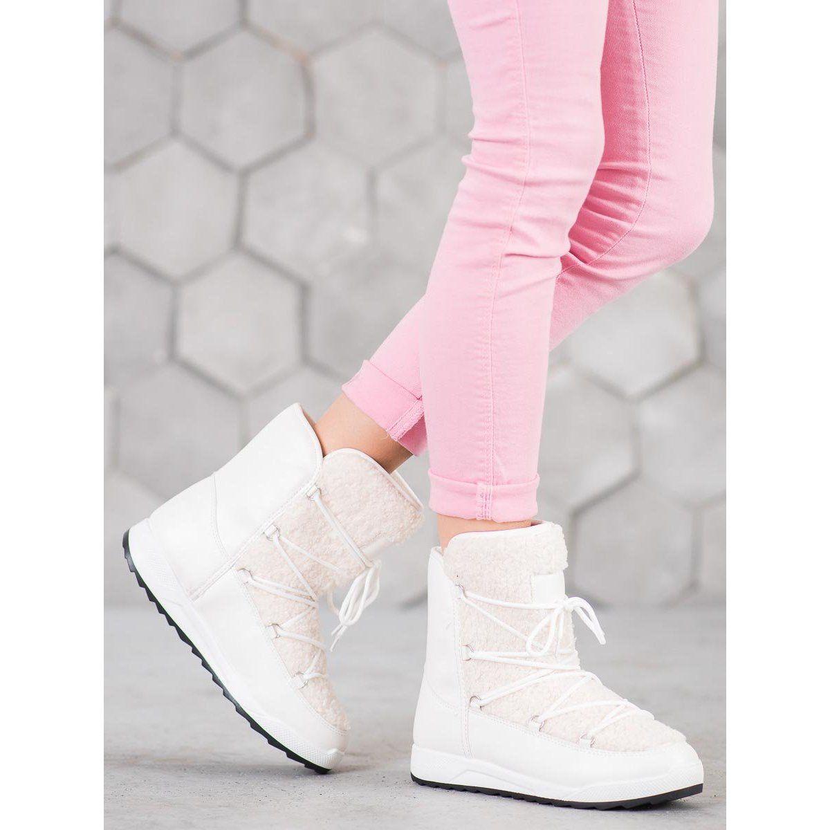 Small Swan Buty Zimowe Z Kozuszkiem Biale Adidas Tubular Defiant Top Sneakers Adidas Tubular