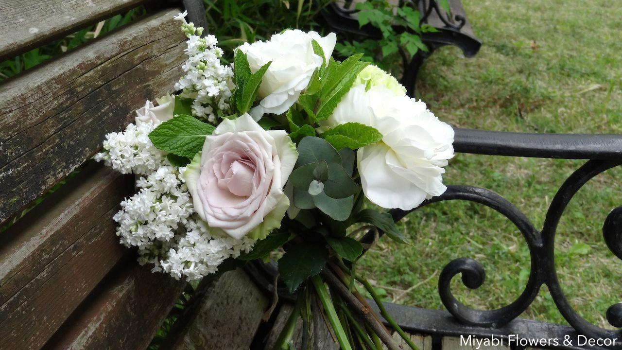 Bouquet,Lirac,Peony,Rose,Mint,Carnation,Miyabi fFowers & Decor,Nuance color,ブーケ,バラ,ライラック,芍薬,カーネーション,ブーケ