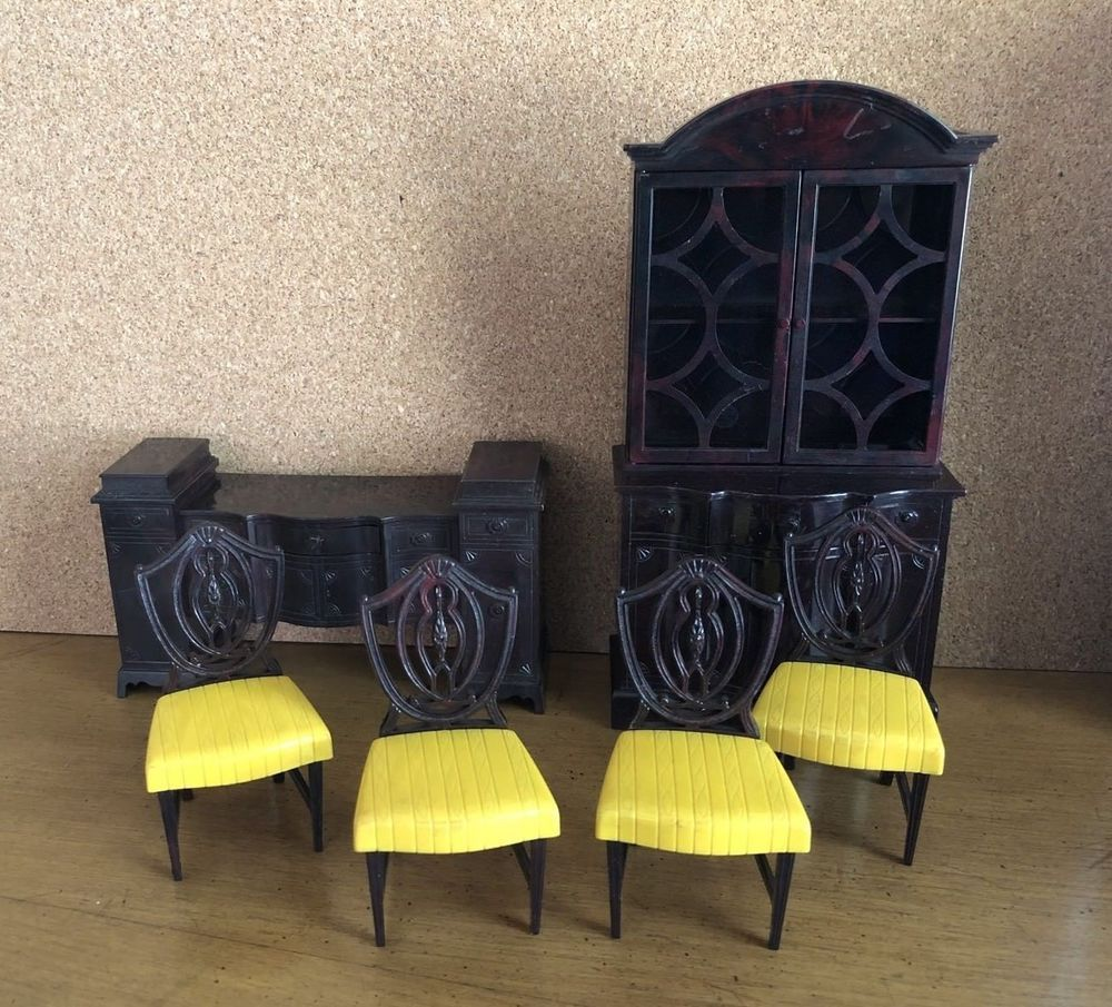 Ideal DINING ROOM Chairs Vintage Dollhouse Furniture Renwal Miniature 1:16  LOT | EBay
