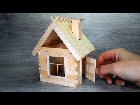 Photo of Popsicle Stick House DIY