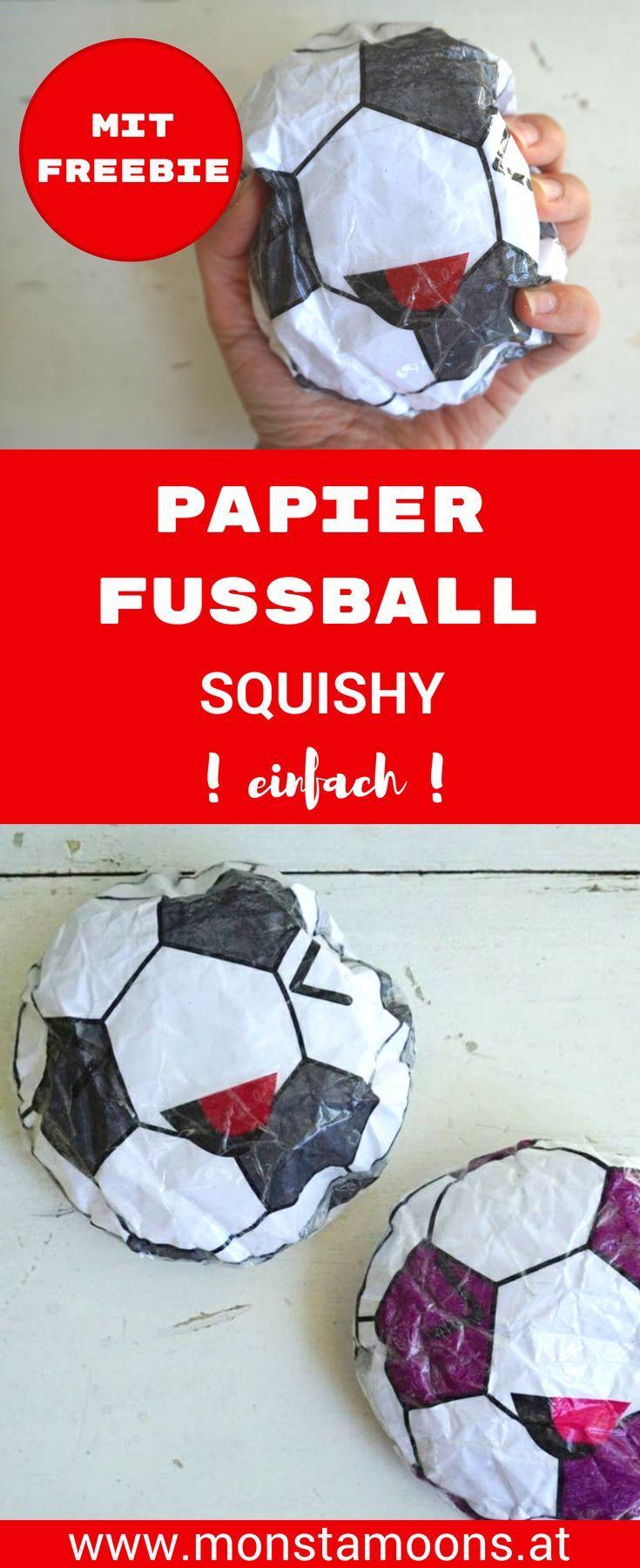 Fussball Squishy Selber Machen Basteln Mit Kindern Diy