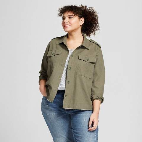 Universal Thread Women s Plus Size Military Jacket - Universal Thread Olive bc45e35c8