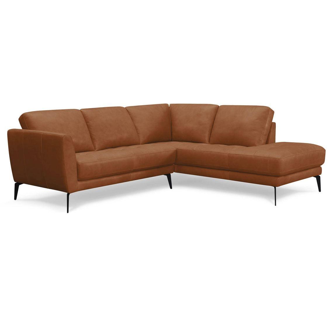 ATTICA 2 Seat Leather Modular Sofa with Right Terminal ...