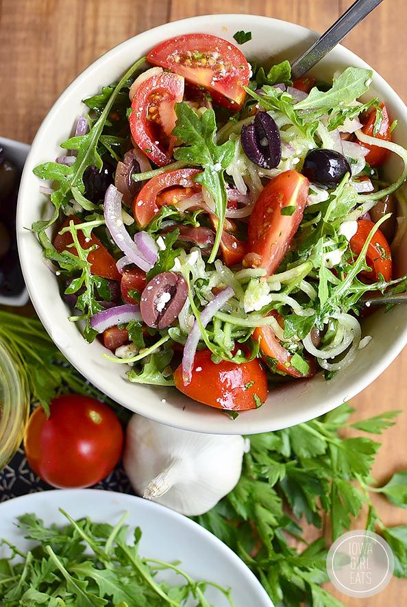Salad Ideas For Dinner Party Part - 25: Greek Cucumber And Arugula Salad