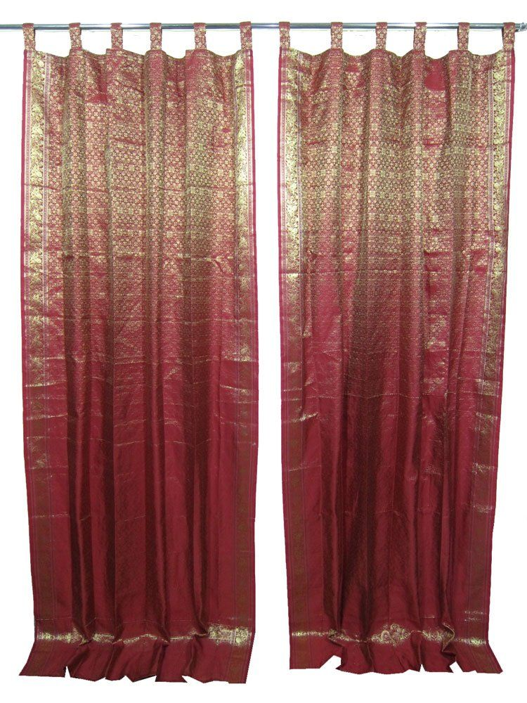 Robot Check Curtains Red Curtains Indian Curtains
