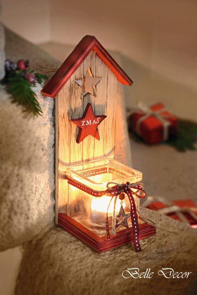 Belle Decor Zima A Vianoce  Svietnik V Tvare Domčeka Xmas  Belle Decor