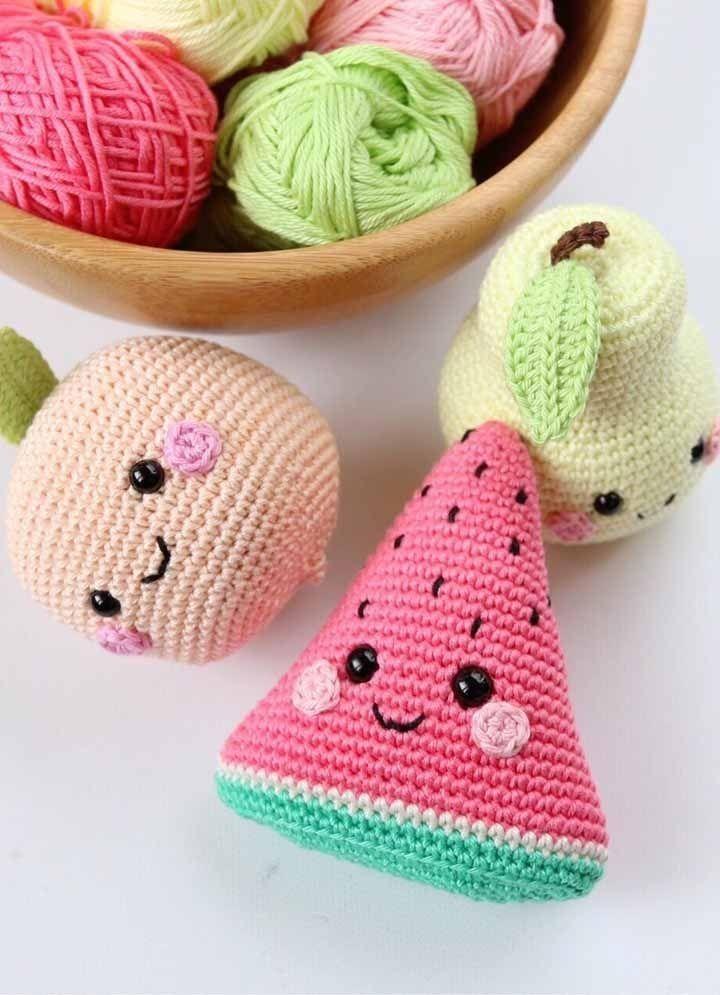 Frutas! * crochet * juguetes * tiendadealgodon@gmail.com | Tejidos ... | 995x720