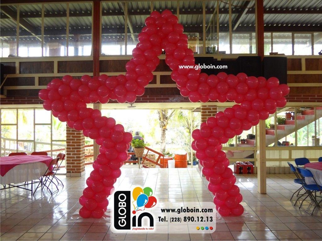 Estrella de globos rosa   Decoraciones para XV Años con Globos ...