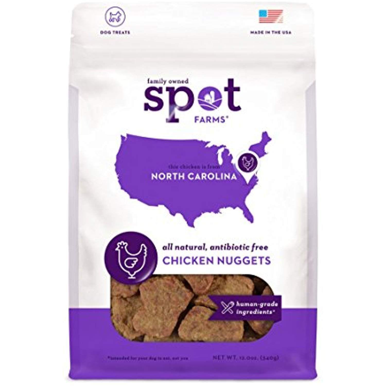 Spot Farms All Natural Human Grade Dog Treats Chicken Nuggets 12