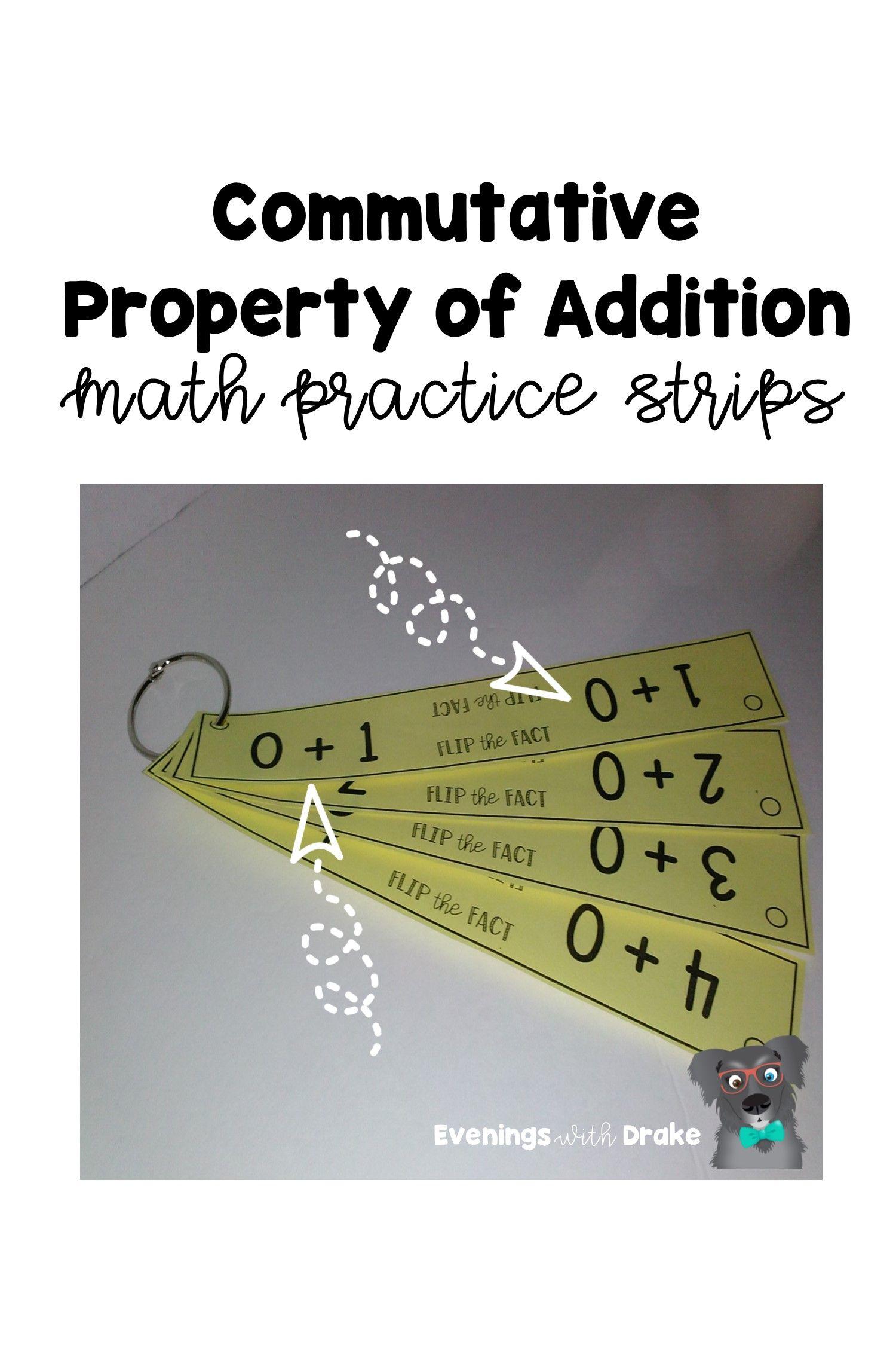 Commutative Property Of Addition Math Strips