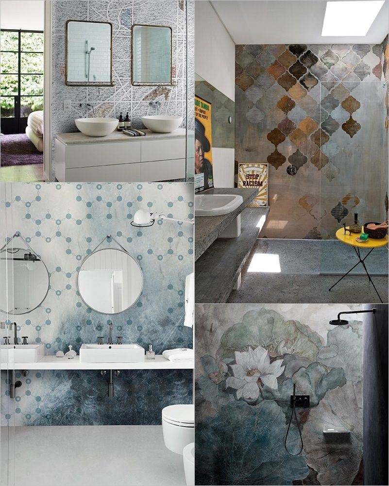 La carta da parati in bagno | Wet System by Wall&Decò | Carta ...