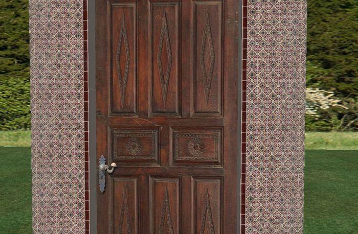 Carved Rustic Door, Rustic House Door, Antique Spanish Villa Door,  Mediterranean Castle Door