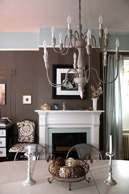 Dining Room Benjamin Moore Fairview Taupe And Woodlawn Blue Dining Room Makeover Home Media Room Paint Colors