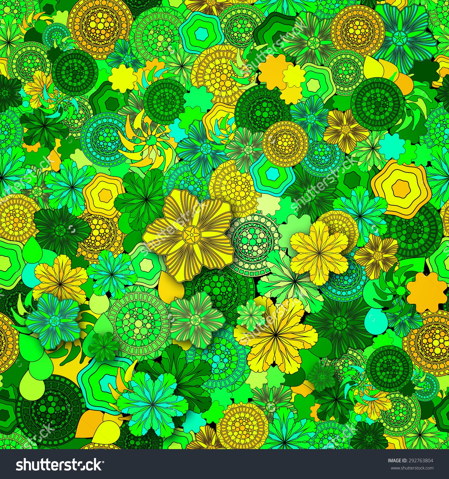 Seamless Abstract Hand Drawn Pattern Floral Background Summer Flowers Elegant Can Be Used For Wallpaper Fills
