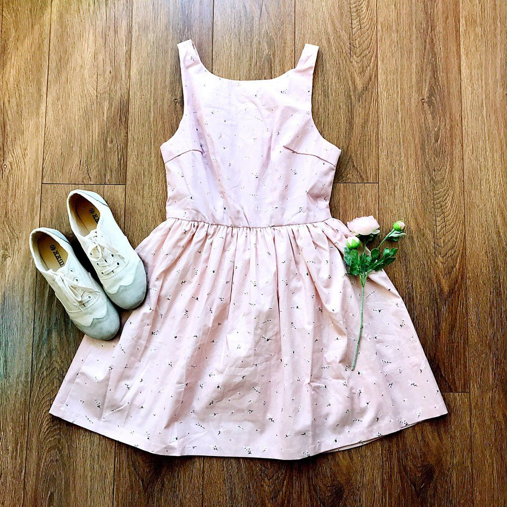 Pink dress for girl  Back in StockNature Print Pink Cute Retro Sundress  Nature prints