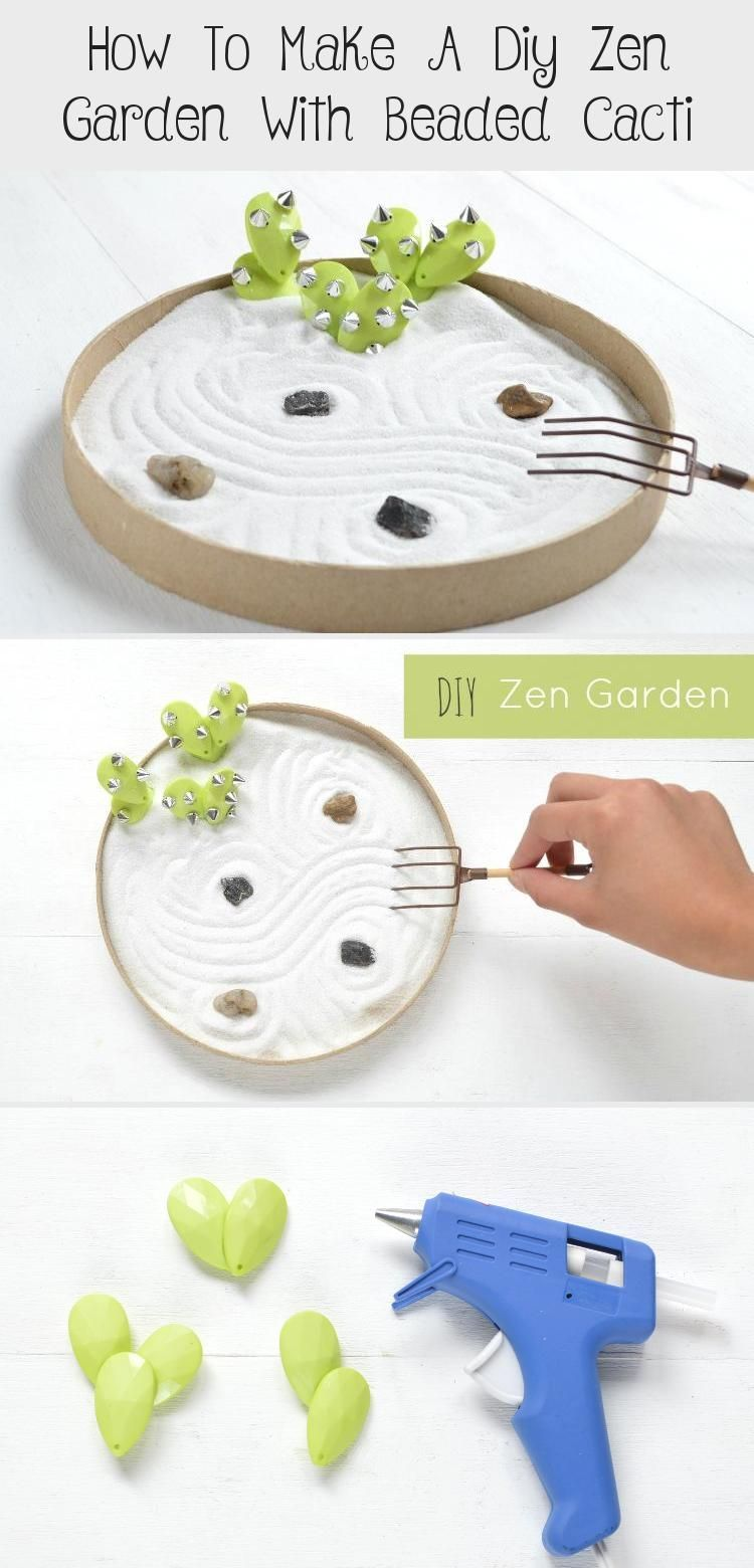 Inspired by beautiful Japanese zen gardens this mini DIY zen garden lets you meditate right in your own home or office garden diy How To Make A Diy Zen Garden With Beaded...