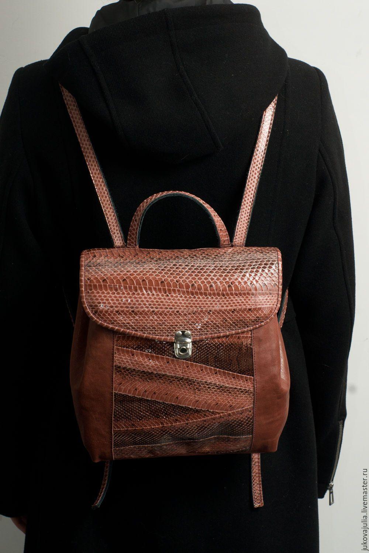 0457e1393474 Купить Мини рюкзак портфель коричневый бордовый из натуральной кожи -  бордовый, рюкзак, рюкзачек Кожаная