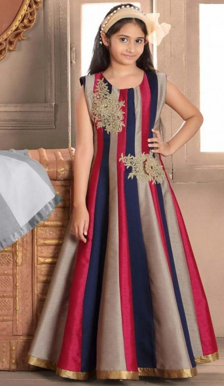 b6558b412 Buy Kids Girls Readymade Party Wear Gowns Dresses Online