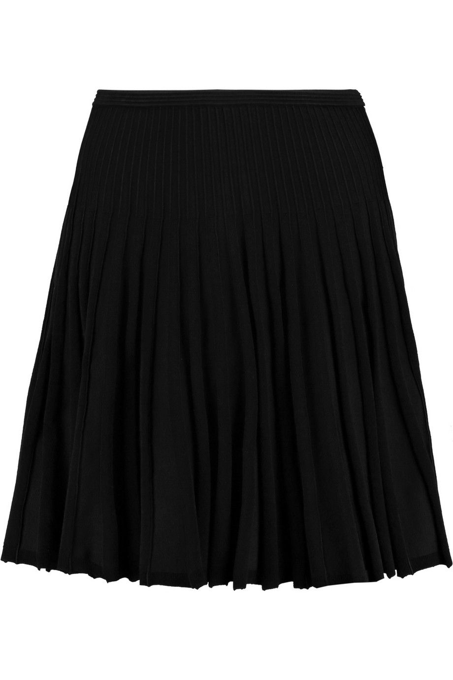 DIANE VON FURSTENBERG Mara Pleated Stretch-Ponte Mini Skirt. #dianevonfurstenberg #cloth #skirt