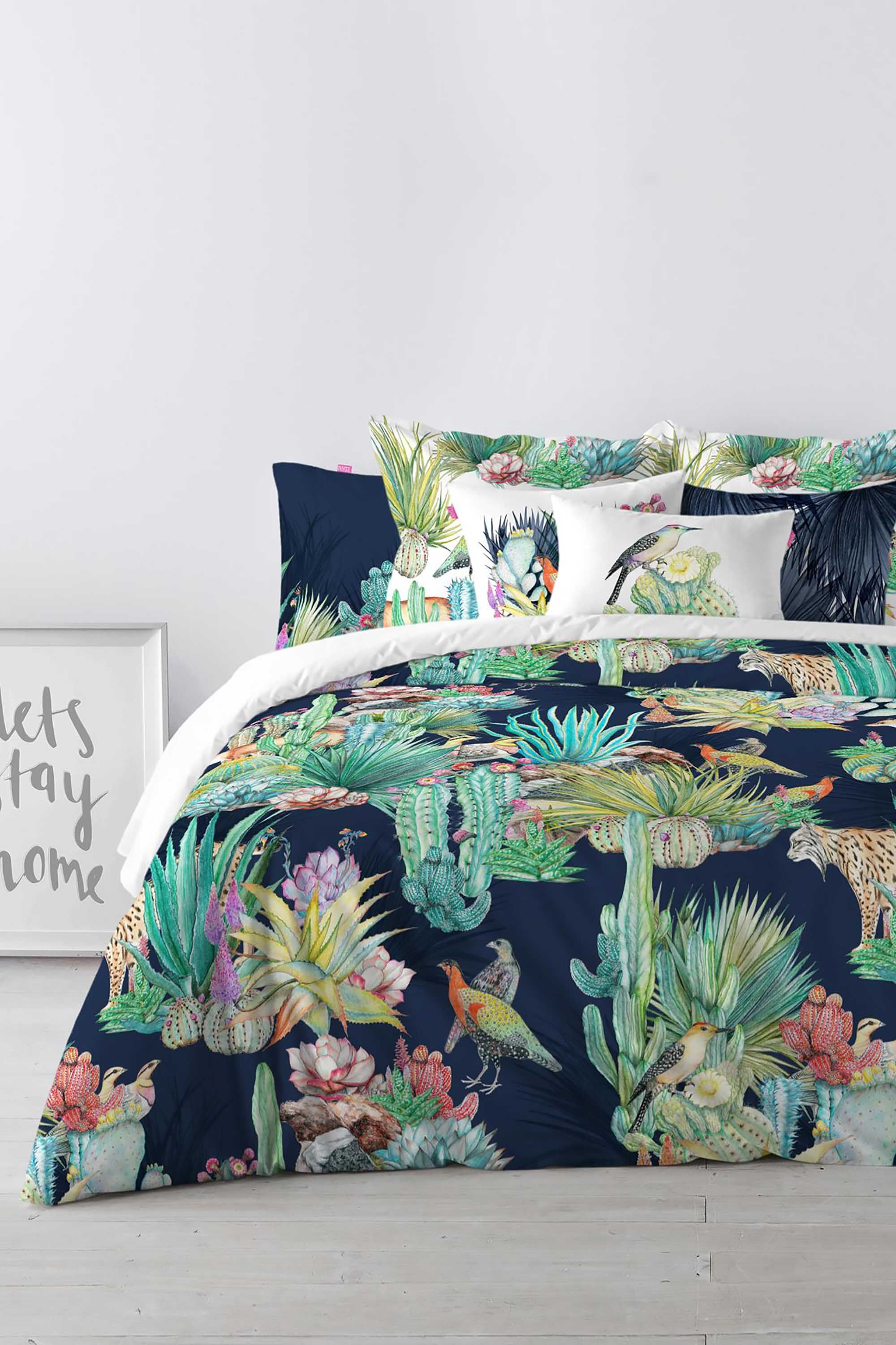Happy Friday Cactus Duvet Cover Multi Bhs Pattern Bedroom