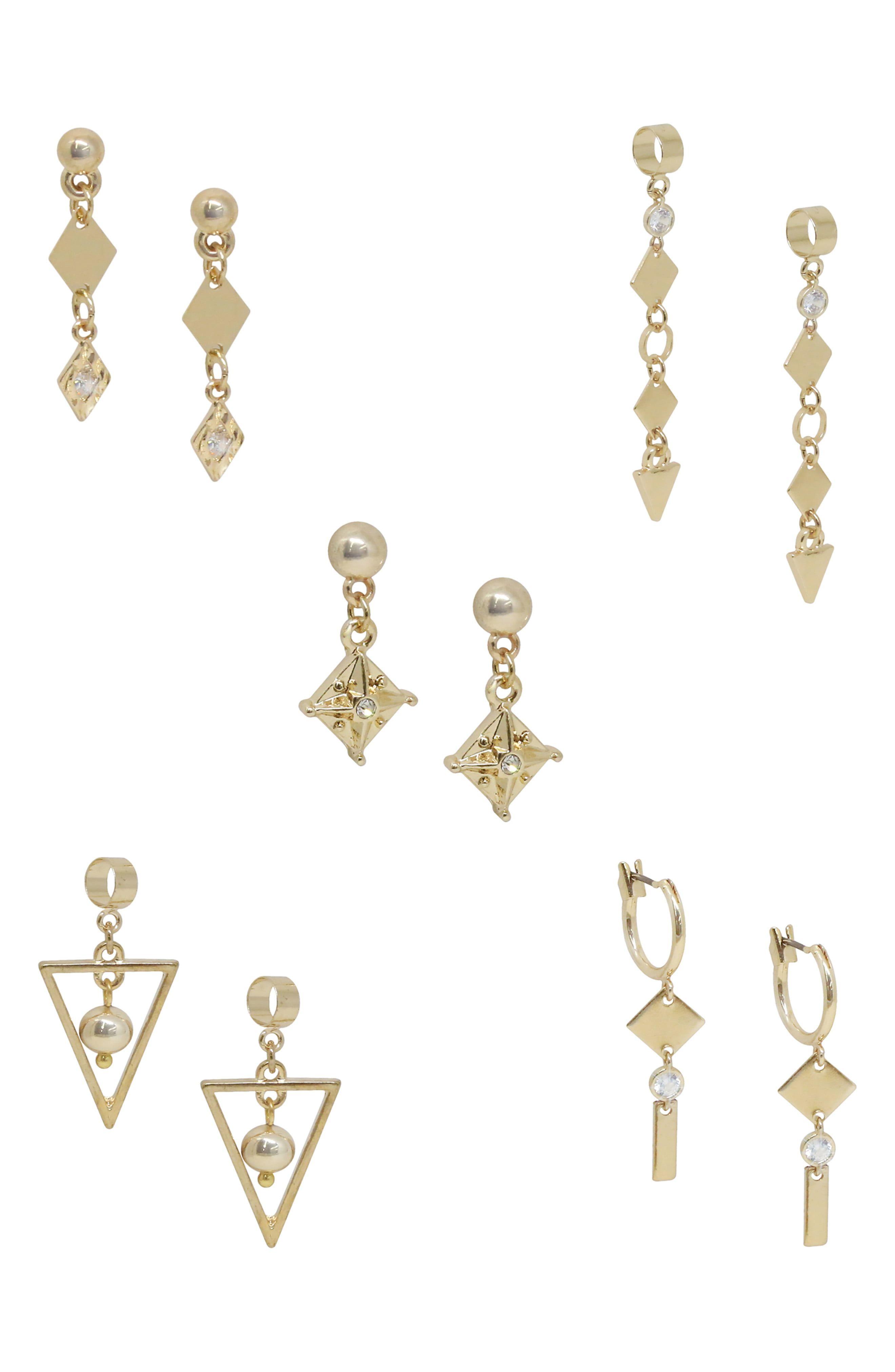 81f5ae942 Ettika Set of 5 Geometric Drop Earrings in 2019 | Products | Drop ...