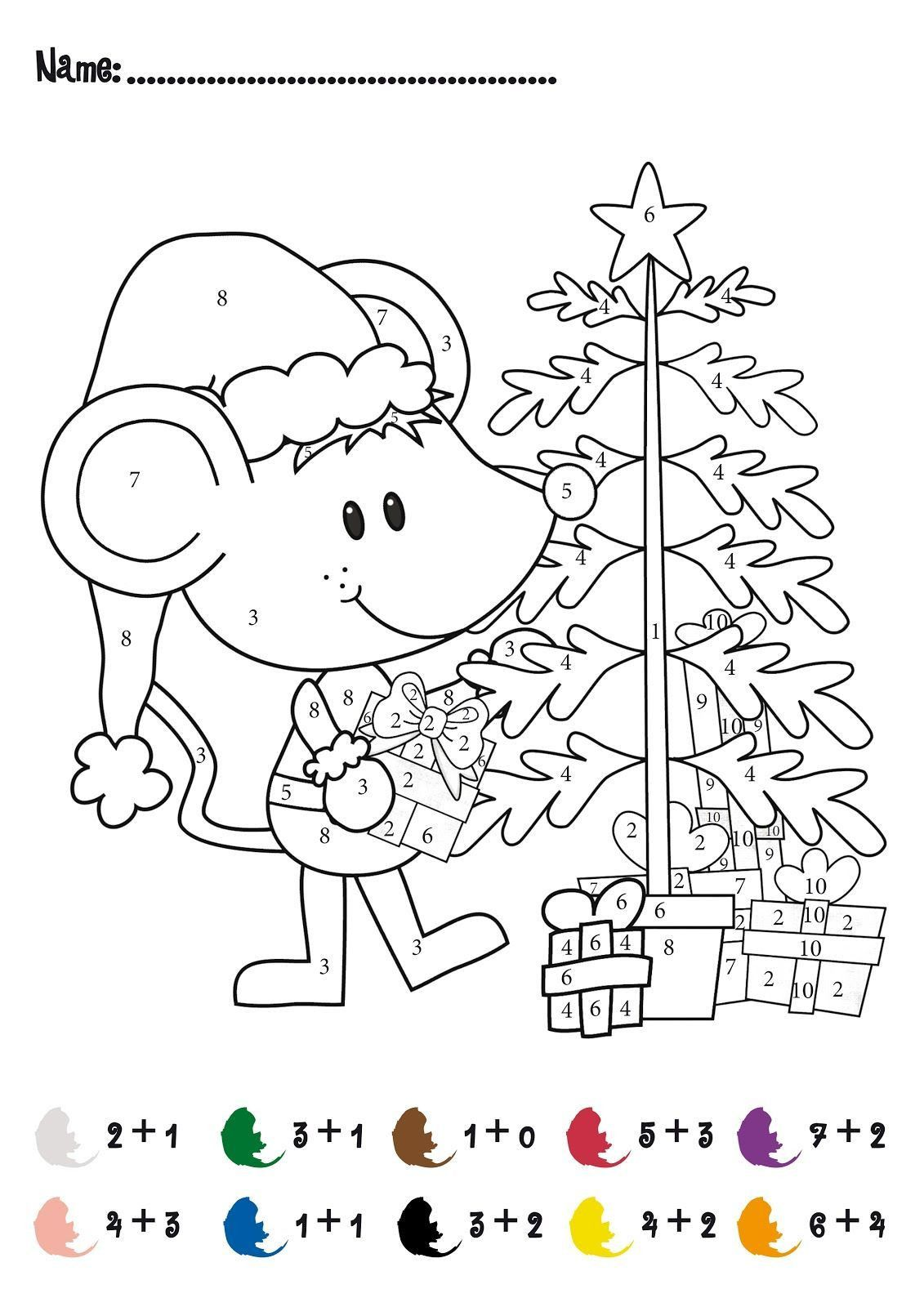 Christmas Math Printable Worksheets Pin On Coloring Page Christmas Math Worksheets Math Coloring Worksheets Christmas Worksheets