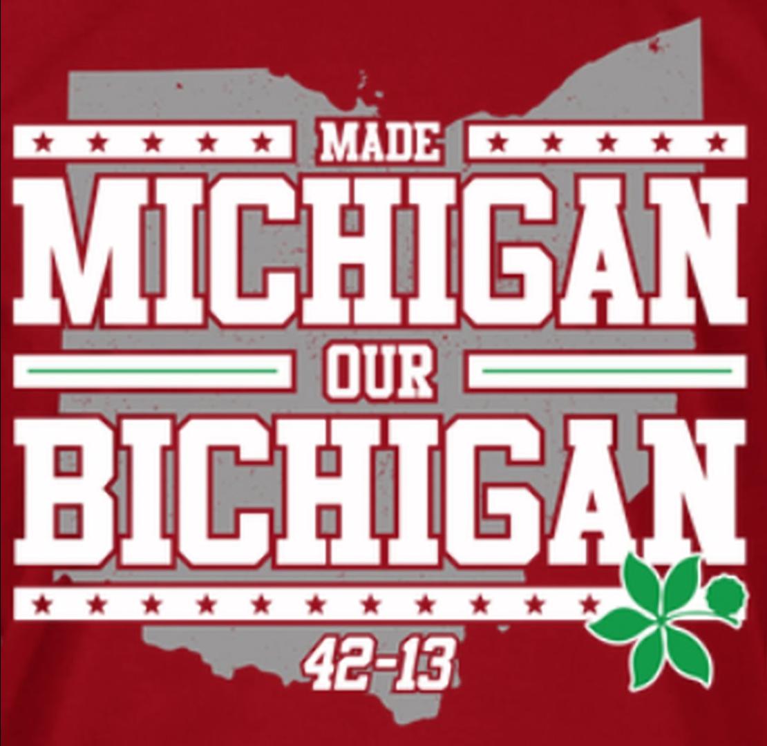 The Game 2015 Made Michigan Our Bichigan 42 13 T Shirt