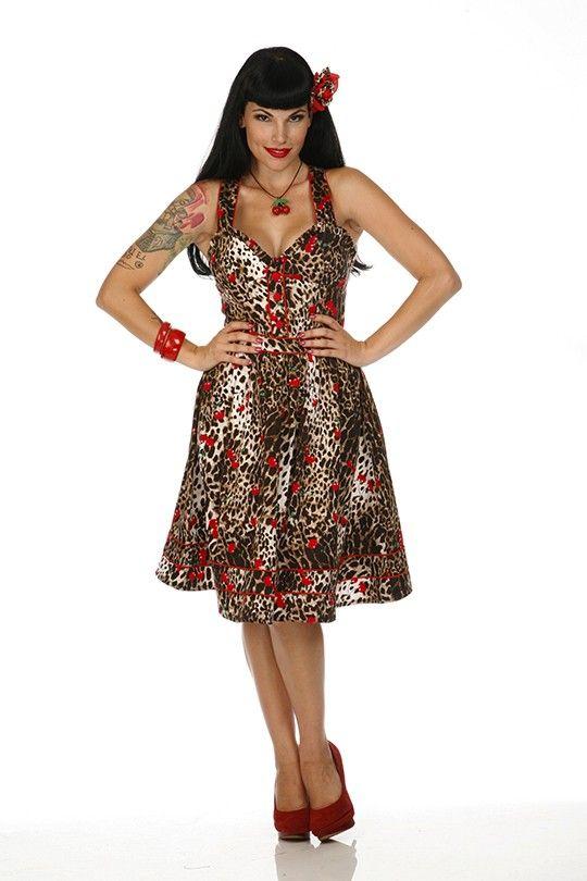 3899386874bf8 Rockabilly - 50's Kleid - Leo mit Kirschen | Style:Rockabilly ...