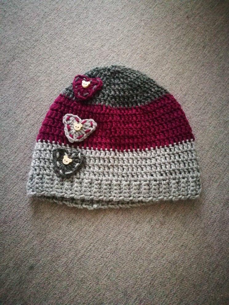 Purple combo with hearts | matsoma-stricken | Pinterest | Mütze baby ...