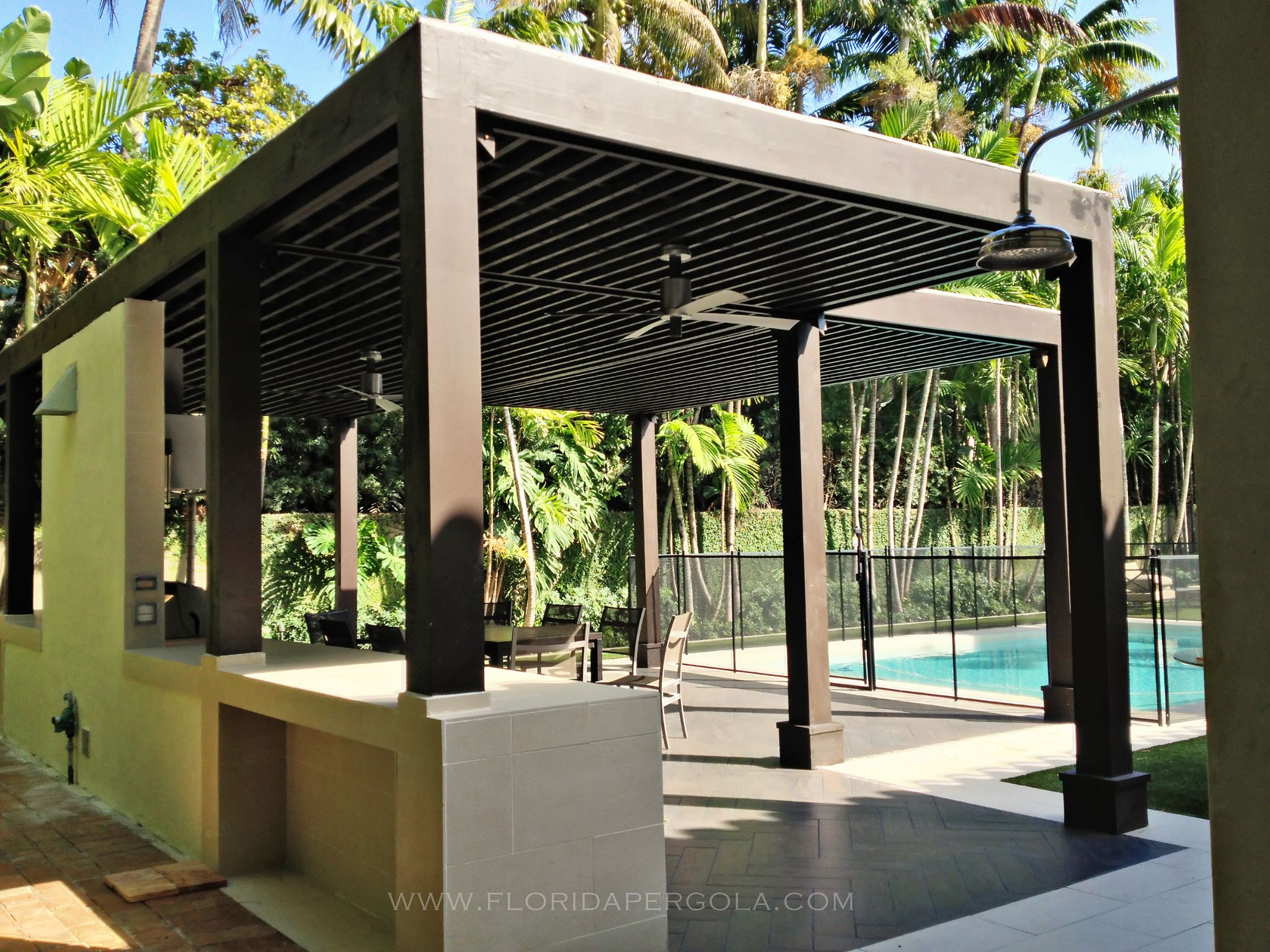 Florida pergola specializing in landscape structures for Exterior garden designs