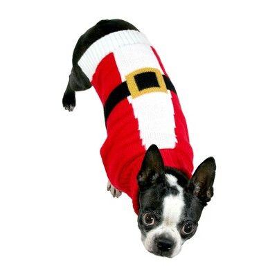 Dog Sweater Knit Santa Xl Wondershop Red Products Knit