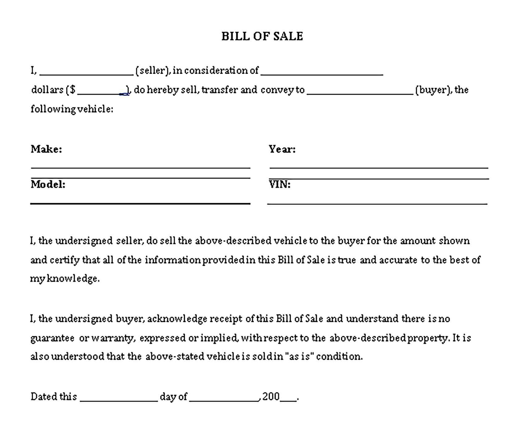 General Bill Of Sale Sample Business Template Bills Bill Of Sale Template General bill of sale template