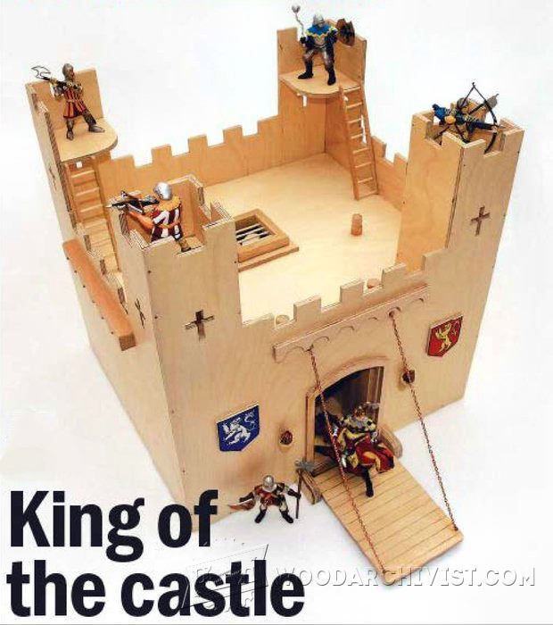 Wooden Castle Plans - Children's Wooden Toy Plans and Projects | WoodArchivist.com