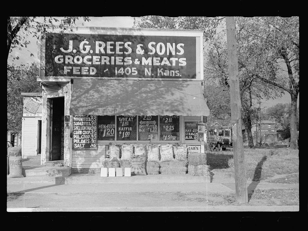 Grocery Store Specializing In Feed And Seed Topeka Kansas 1938 Kansas Kansas Topeka