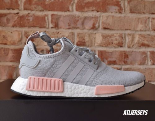 best service 1836f c35b1 Adidas-NMD-R1-Runner-Grey-Vapour-Pink-Light-Onix-Offspring-BY3058-Women-039- s-Size
