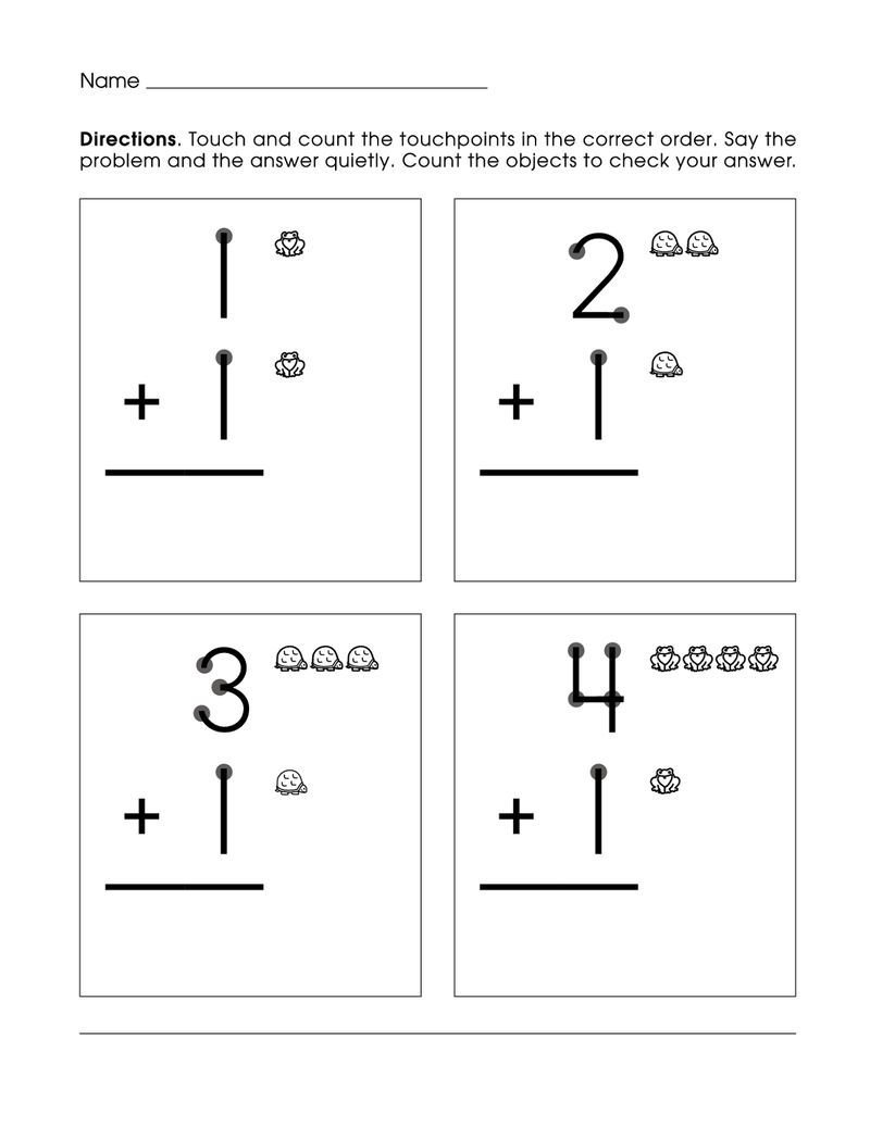 Picture Math Worksheet For Kids Also See The Category To Find More Coloring Sheets To Print Button Green U Touch Math Worksheets Touch Math Touch Point Math [ 1036 x 800 Pixel ]