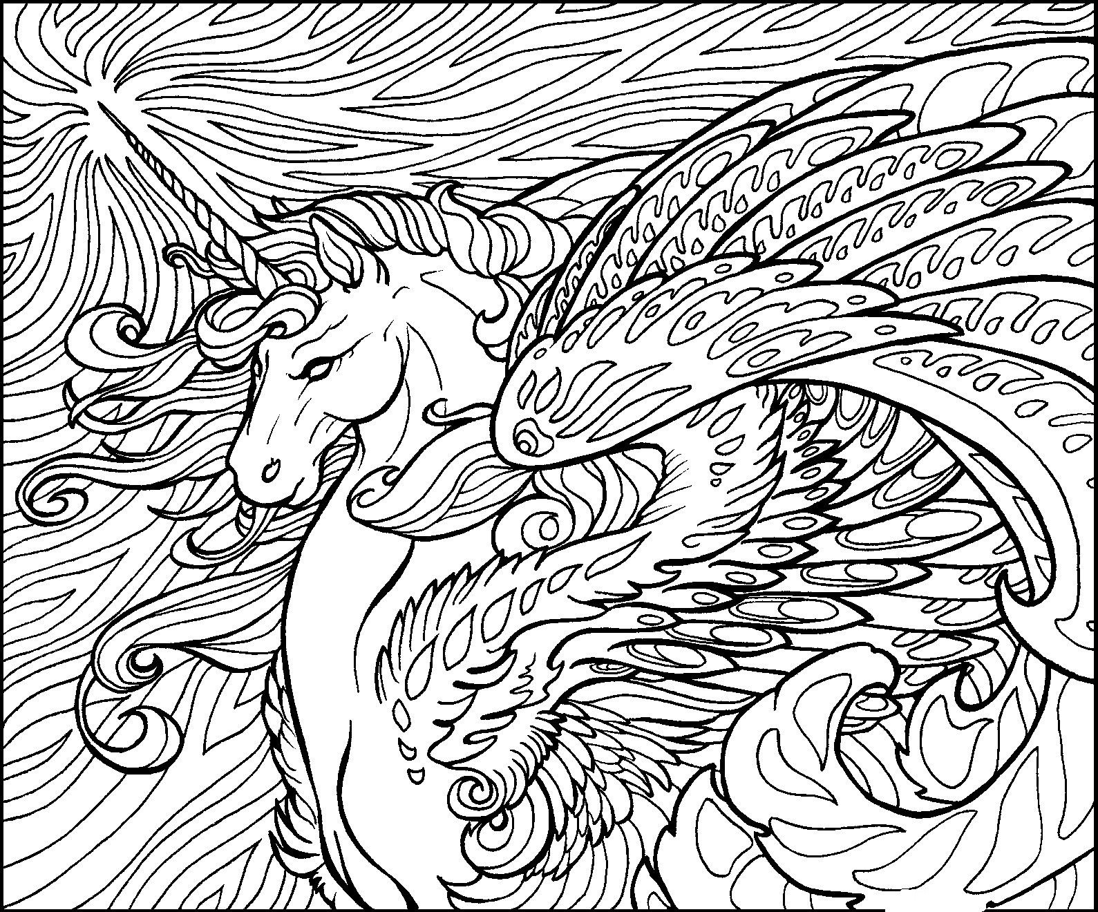 detailed coloring pages dragon