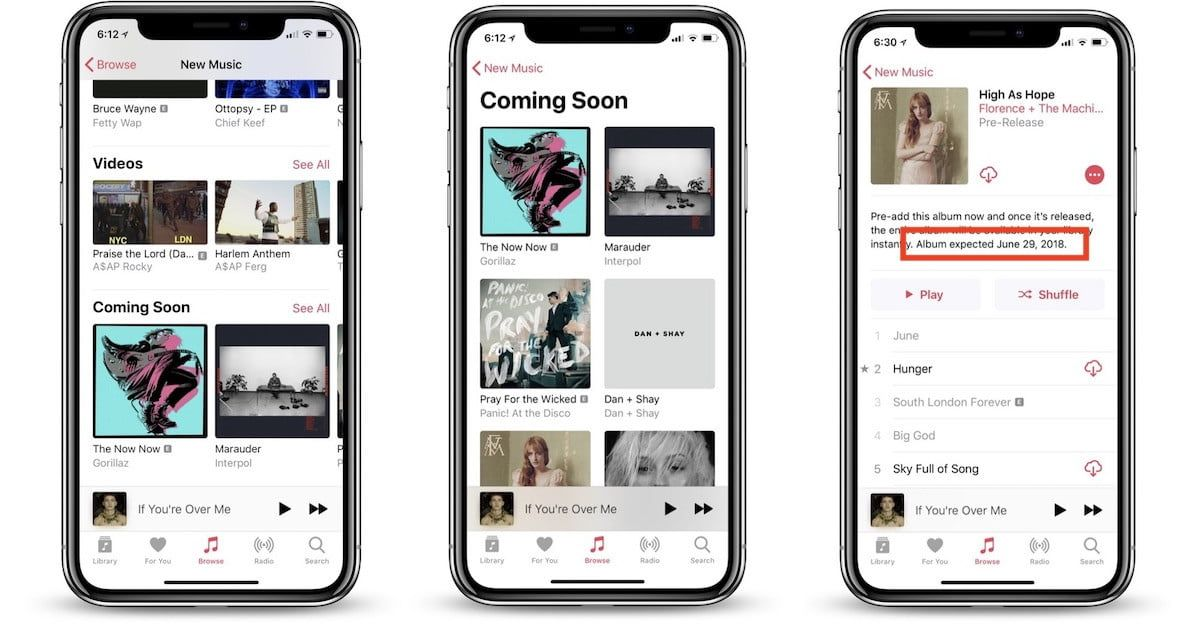 Apple Music Updates Make It Easier to Find Album Release