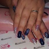 nails allow you to show off all those cute wintry themes Check out our c  Winter nails allow you to show off all those cute wintry themes Check out our c   Nails Blue Sil...