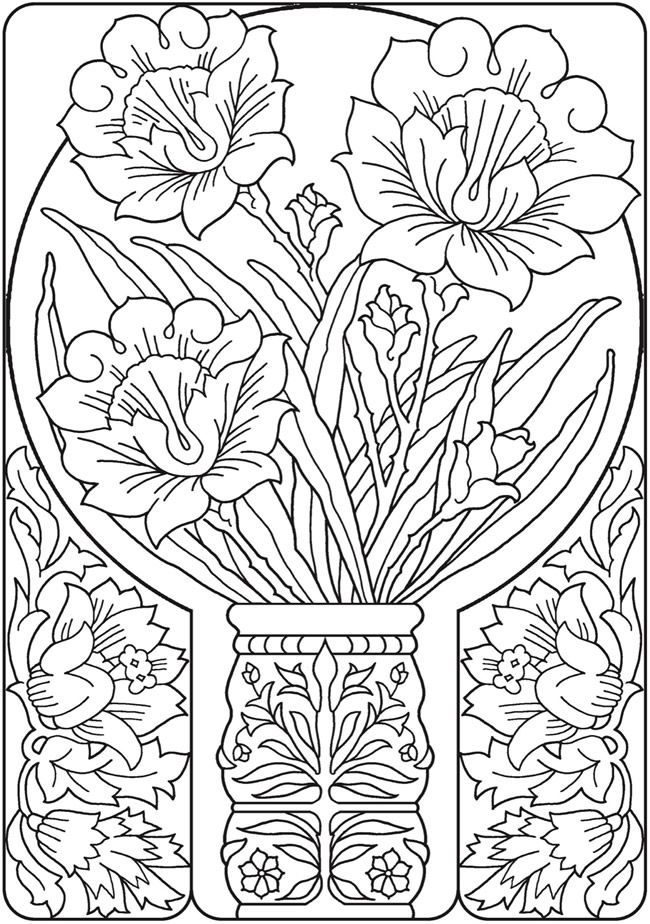 dover publications creative haven deluxe edition elegant art nouveau coloring book clipart bw. Black Bedroom Furniture Sets. Home Design Ideas