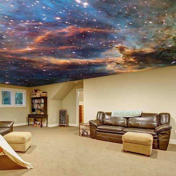 Space Theme Ceiling Vinyl Sticker Star The Universe