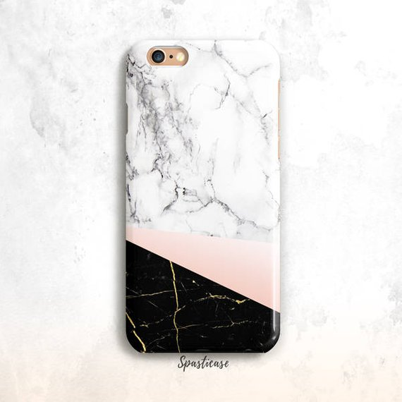 07103de97a3 Marble iPhone 8 Case, iPhone 6S Case, White and Black Marble iPhone 7 Case, iPhone  6 Plus, iPhone 5S