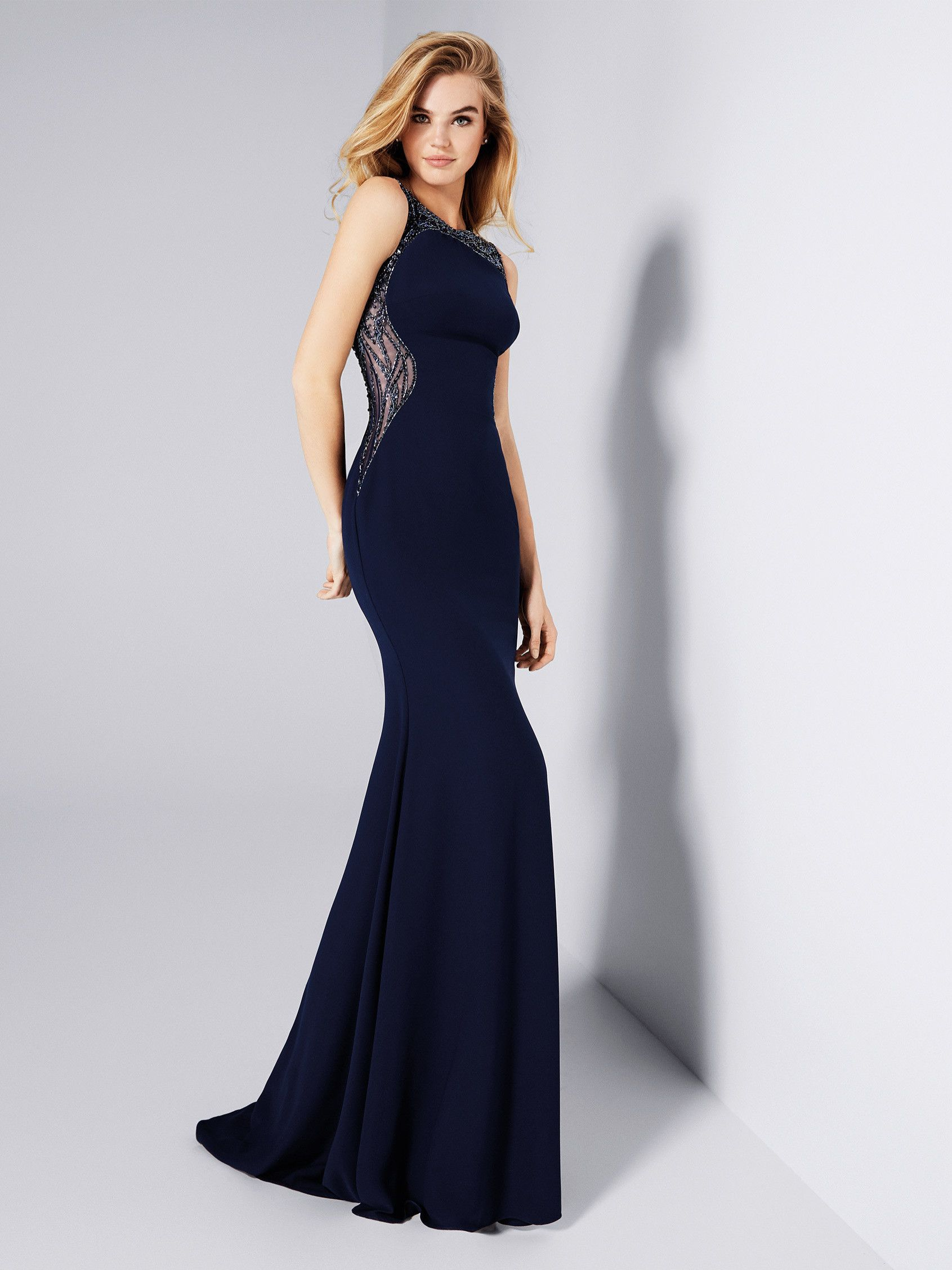 Ganet: Cocktail dress in bead embroidered tulle. Pronovias ...